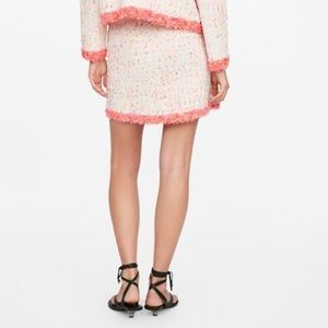 Zara Skirts - ZARA Mini Skirt with Frayed Trim